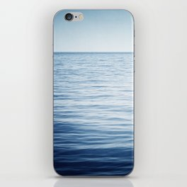 Blue Ocean Seascape, Dark Blue Sea Landscape Photography, Ocean Horizon iPhone Skin