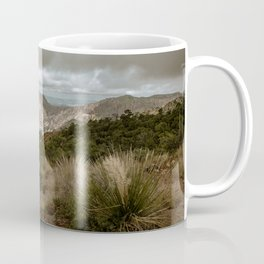 Big Bend Cloudy Mountaintop View - Lost Mine Trail - Landscape Photography Coffee Mug