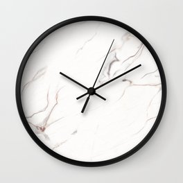 White marble texture Wall Clock