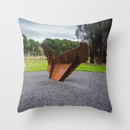 War Memorial Anchor Throw Pillow