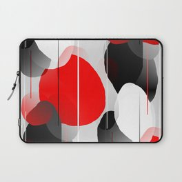 Modern Anxiety Abstract - Red, Black, Gray Laptop Sleeve