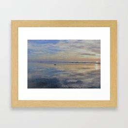 Beach with No Beginning  -   No End Framed Art Print