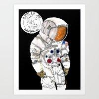 nasa Art Prints featuring NASA Astronaut - Cristina Curto by Cristina Curto
