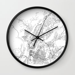 Minimal City Maps - Map Of Chattanooga, Tennessee, United States Wall Clock