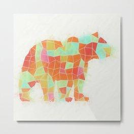 Oh, Hi Bear Metal Print