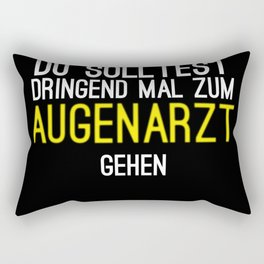 Ophthalmologist Testing Blurred Gift Rectangular Pillow