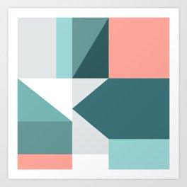 Modern Geometric 60 Art Print