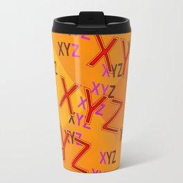 XYZ - pattern Travel Mug