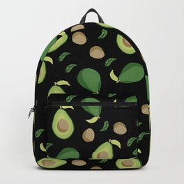 Avocado gen z fashion apparel food fight gifts black Backpack