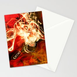 Red smoke background Stationery Cards