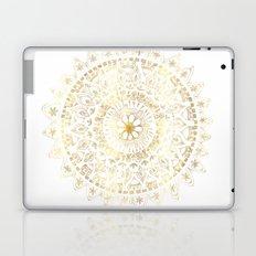 Gold Hand Drawn Mandala Laptop & iPad Skin
