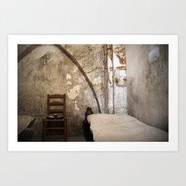 A cell in La Conciergerie de Paris Art Print