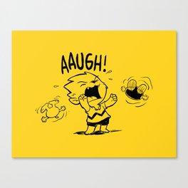 Auugh! Canvas Print