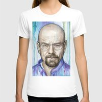 walter white T-shirts featuring Walter White Portrait by Olechka