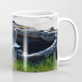 posing heron Coffee Mug
