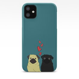 Pugs In Love iPhone Case