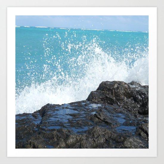 Oahu: Splash 2 Art Print
