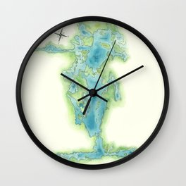 Go Home Lake - Nature Map Wall Clock