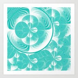 Light turquoise abstract Art Print
