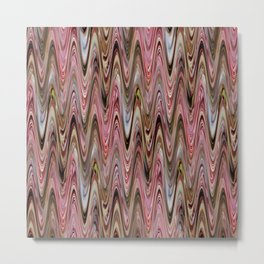 Zigzag Antique Pink Metal Print
