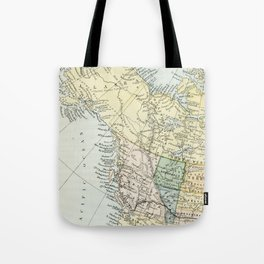 Vintage Map of Canada Tote Bag