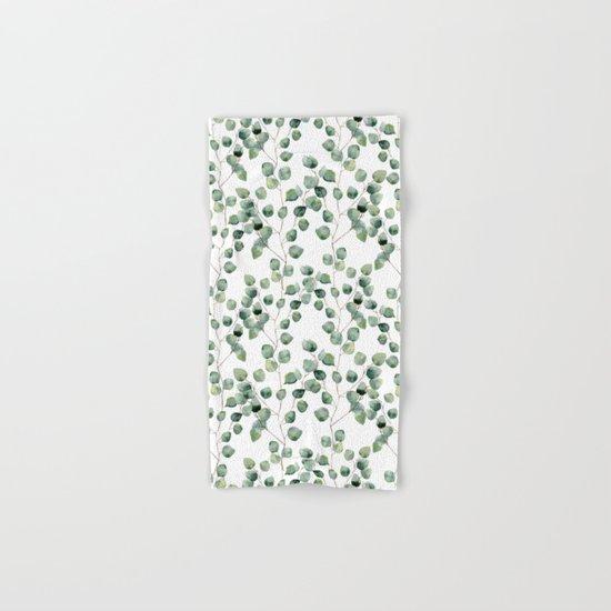 Watercolor eucalyptus silver dollar Hand & Bath Towel