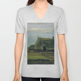 Farm With Stacks Of Peat - Digital Remastered Edition Unisex V-Neck