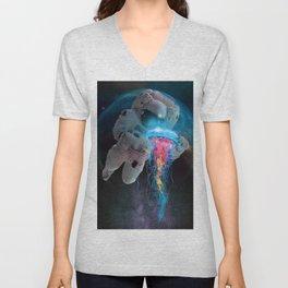 Space Jellyfish Unisex V-Neck
