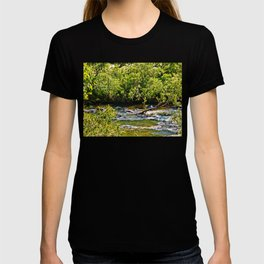 Beautiful river running over rocks T-shirt