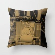 Golden Minox Throw Pillow