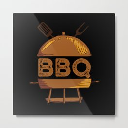 Grilling Meat BBQ Barbecue Smoker Gift Metal Print