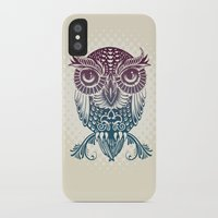 egyptian iPhone & iPod Cases featuring Baby Egyptian Owl by Rachel Caldwell