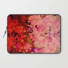 Two Different Worlds -- Floral Pattern Laptop Sleeve