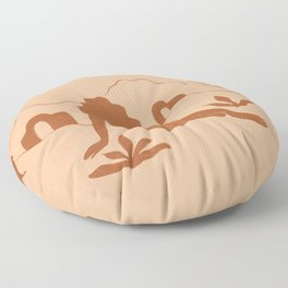 Looking At The Mountains Floor Pillow