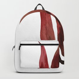 Red Tropical Leaves Backpack