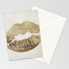 Hollywood Kiss Gold Stationery Cards