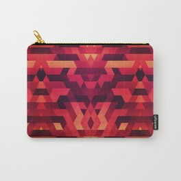 Abstract red geometric triangle texture pattern design (Digital Futrure - Hipster / Fashion) Carry-All Pouch