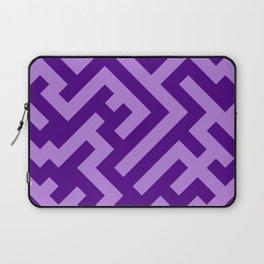 Lavender Violet and Indigo Violet Diagonal Labyrinth Laptop Sleeve