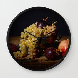 Fruit Bowl Arrangement Wall Clock