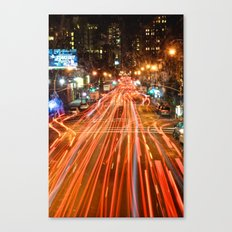City Traffic In The Night Canvas Print