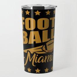 Football Miami Travel Mug