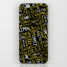 Animal Type Block iPhone & iPod Skin