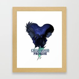 FFVII : A Childhood Promise Design Framed Art Print