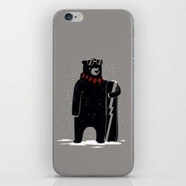 Bear on snowboard iPhone Skin