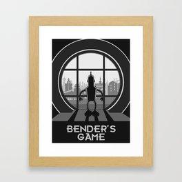 Bender's Game Framed Art Print