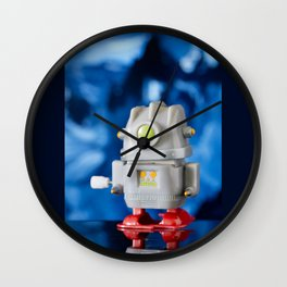 Green Eye Toy Robot Wall Clock