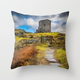 Dolbadarn Castle Llanberis Wales Throw Pillow