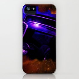 Blue Galaxy Hotrod iPhone Case