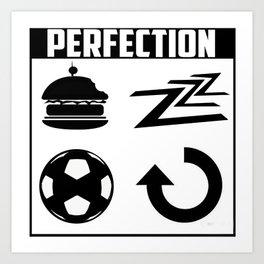 Eat. Sleep. Goal! Repeat. Art Print