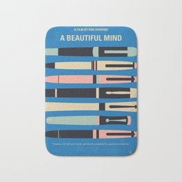 No809 My A Beautiful Mind minimal movie poster Bath Mat